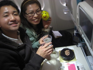 シンガポール航空にてハネムーンサービス