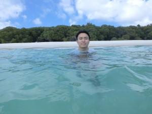 海にも入りました!2