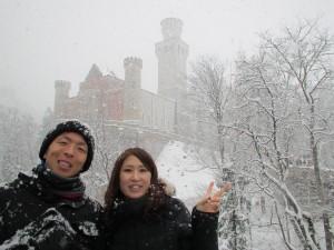 そして雪のノイシュバインシュタイン城
